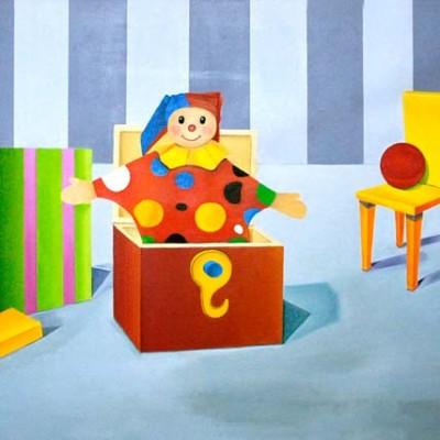 Spielzeug - Öl auf Leinwand - Ausschnitt